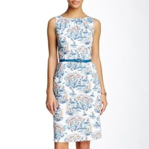 Nine West Riveria Combo Boat Print Sheath Dress